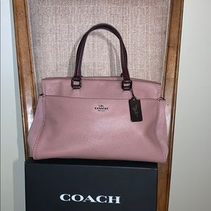 Coach Colorblock Mixed Leather Fulton Rose Oxblood